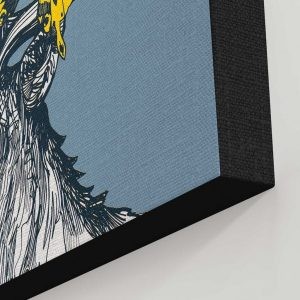 Stags canvas print detail