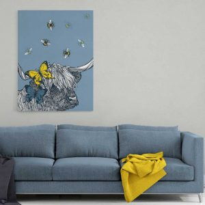 Highland Cow Stretched Canvas print by Gillian Kyle