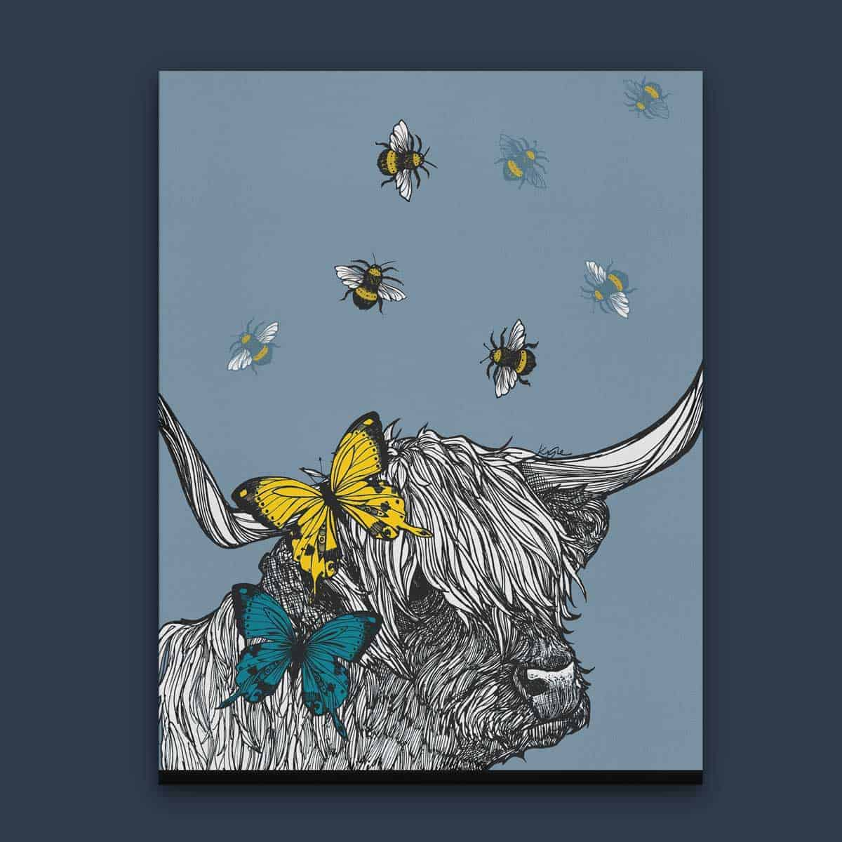 Lola The Highland Cow Scottish Wall Art By Gillian Kyle