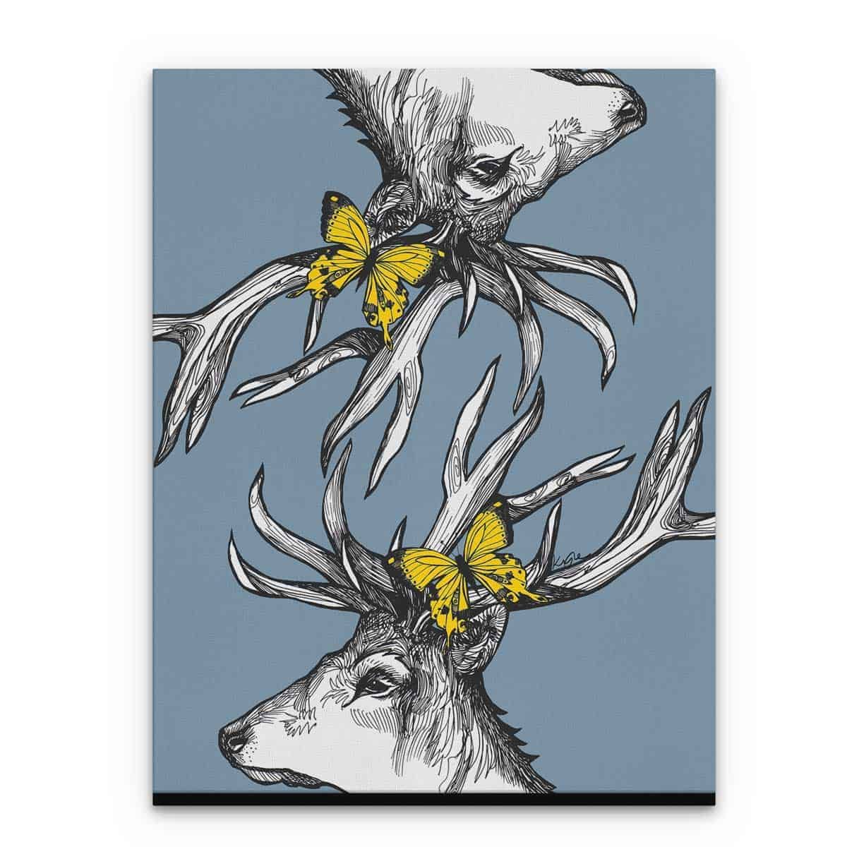 Gillian Kyle Scottish Art Canvas and Prints Gallery, Scottish Wildlife Art, Mr Stag Scottish Deer canvas prints