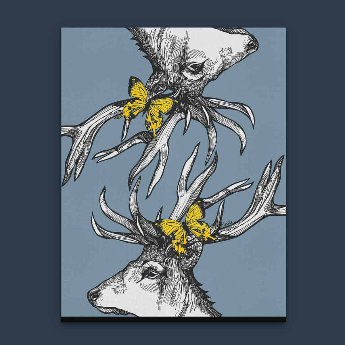 Scottish Art: Mr Stags Reflection Scottish Wall Art And Canvas Prints By
