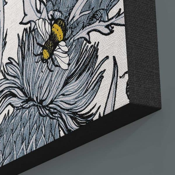 Detail of Silver Thistle Canvas print by Gillian Kyle