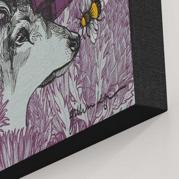 Monarch large canvas print detail by Gillian Kyle