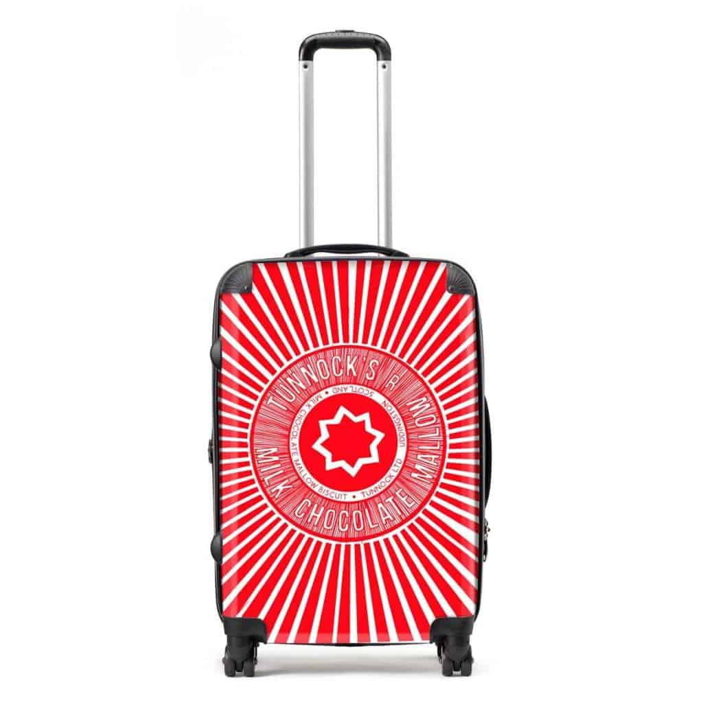 Hardback Lightweight Suitcase With Tunnocks Teacake