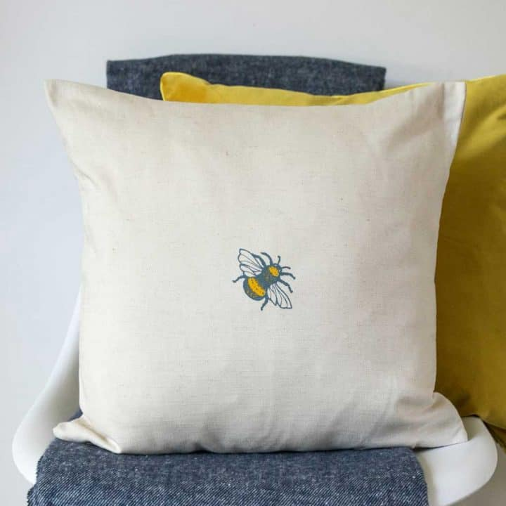 Scottish Thistles cushion by Gillian Kyle