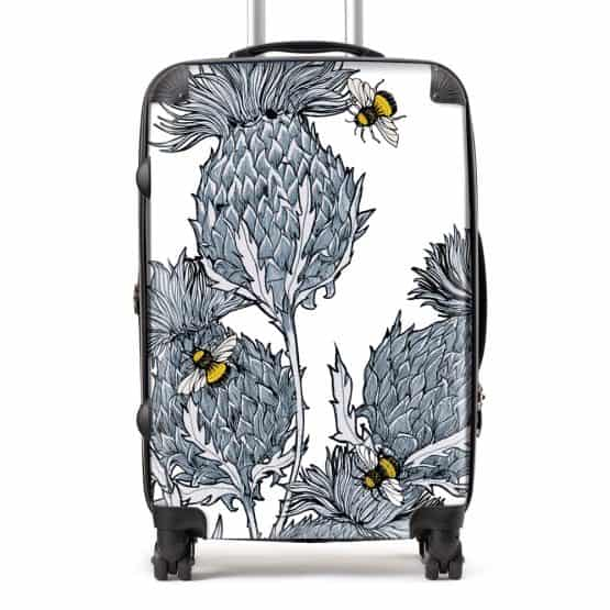 Scottish Thistle Suitcase in silver