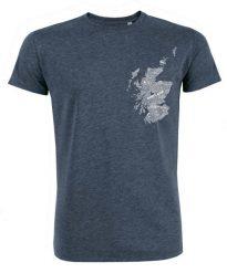 gillian kyle, scottish men's clothing, scottish unisex clothing, scottish men's shirt, scottish unisex t-shirt, scotland map design