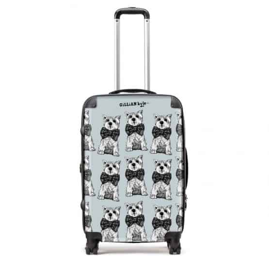 gillian kyle designer suitcase in Archie westie dog design
