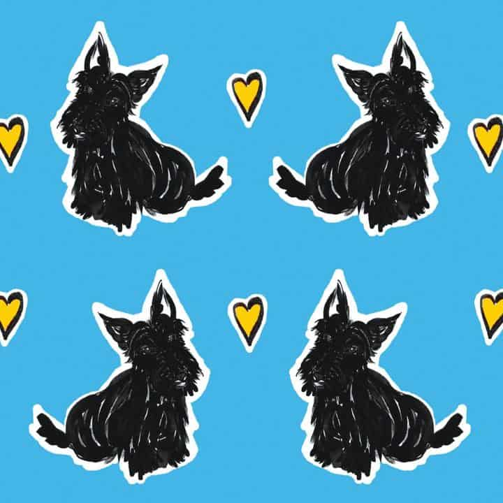 scottie love repeat pattern detail