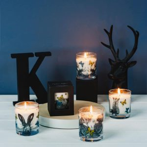 Selection of Scottish scented candles by Gillian Kyle