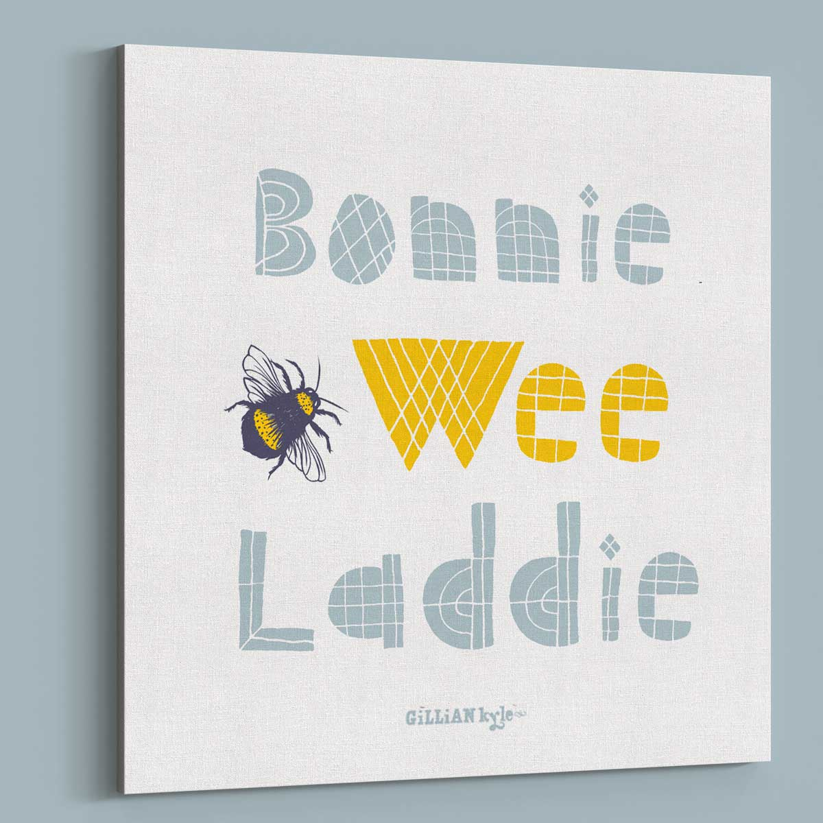 ca42ab6a6 Gillian Kyle Scottish Wall Art Bonnie Wee Laddie Nursery Canvas