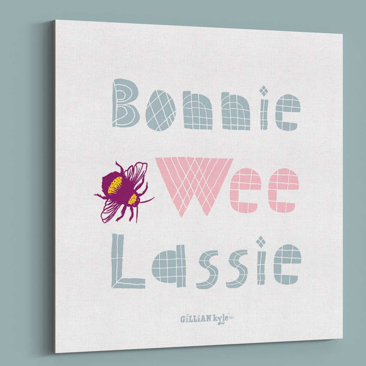 Gillian Kyle Scottish Art Gallery Bonnie Wee Lie New Baby Gift Canvas Print