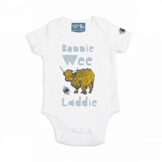 Gillian Kyle, bonnie wee laddie, Scottish baby gift, Scottish Baby clothing