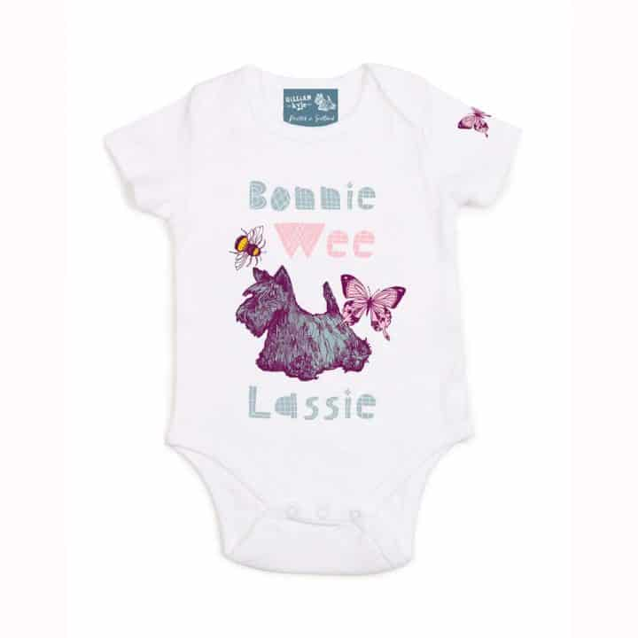Gillian Kyle, Scottish baby clothing, Scottish Baby gift, Scottish bonnie wee lassie range