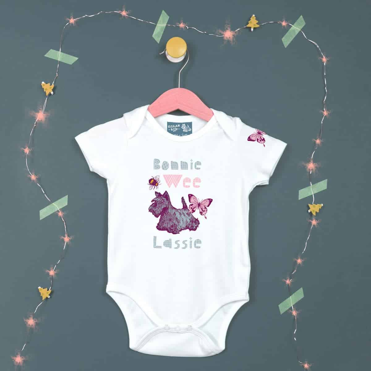Gillian Kyle, Scottish baby clothing, Scottish Baby gift, Scottish bonnie wee lassie range