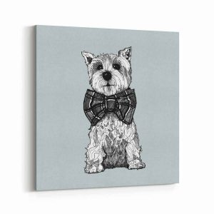 set of 3 mini canvases with Scottish illustrations plus west Highland terrier and miniature schnauzer