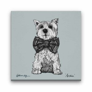 west Highland terrier canvas print by Gillian Kyle
