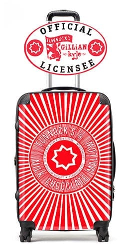 Gillian Kyle Scottish Suitcases Tunnocks Teacake luggage cabin case official licensee