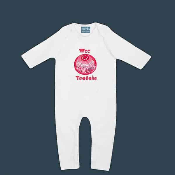 Gillian Kyle Baby Clothes and Gifts featuring Tunnock's Teacake