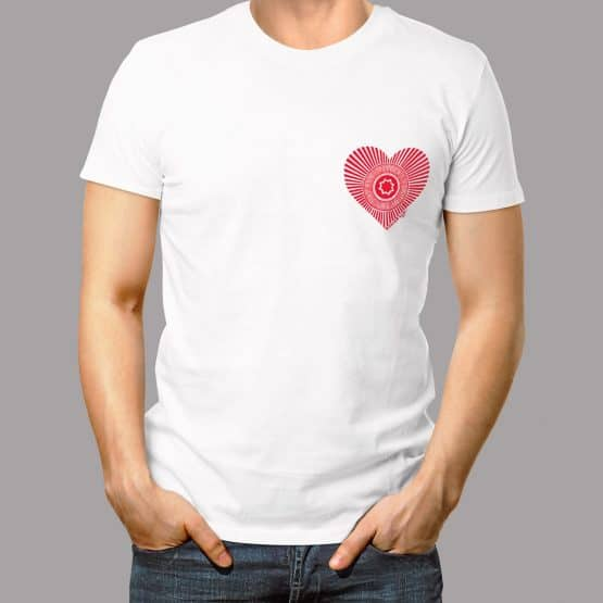 Love Tunnock's Men's T-shirt in white by Gillian Kyle