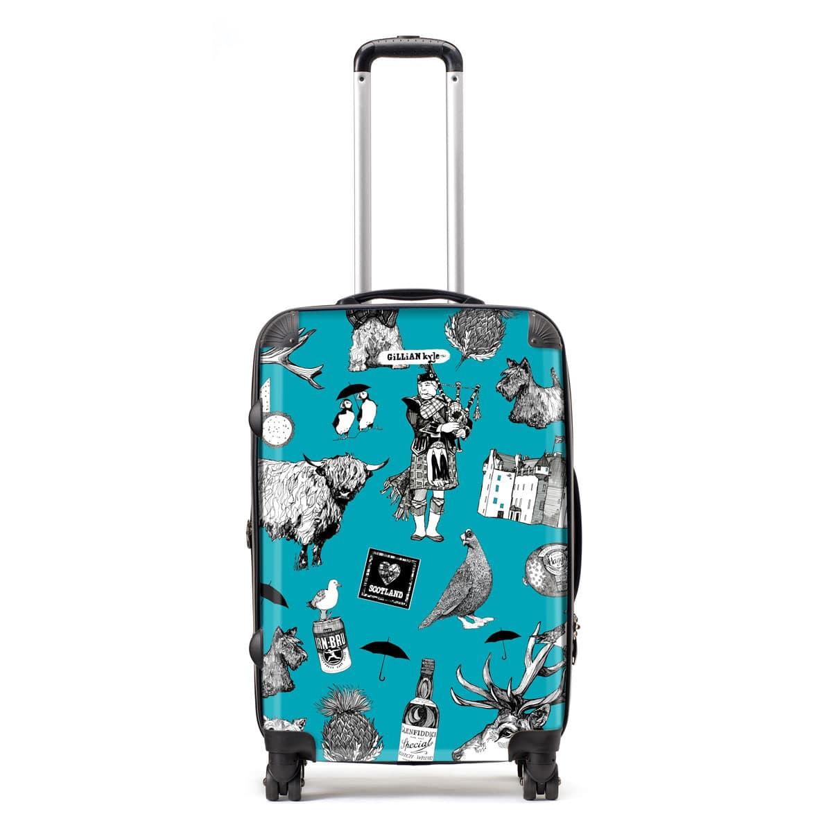 Hardback Lightweight Suitcase with Love Scotland Scottish Pattern 586e712f2d862