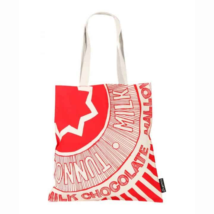 Tunnock's Teacake Wrapper tote bag by Gillian Kyle