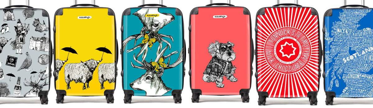 Scottish designer suitcases by Gillian Kyle