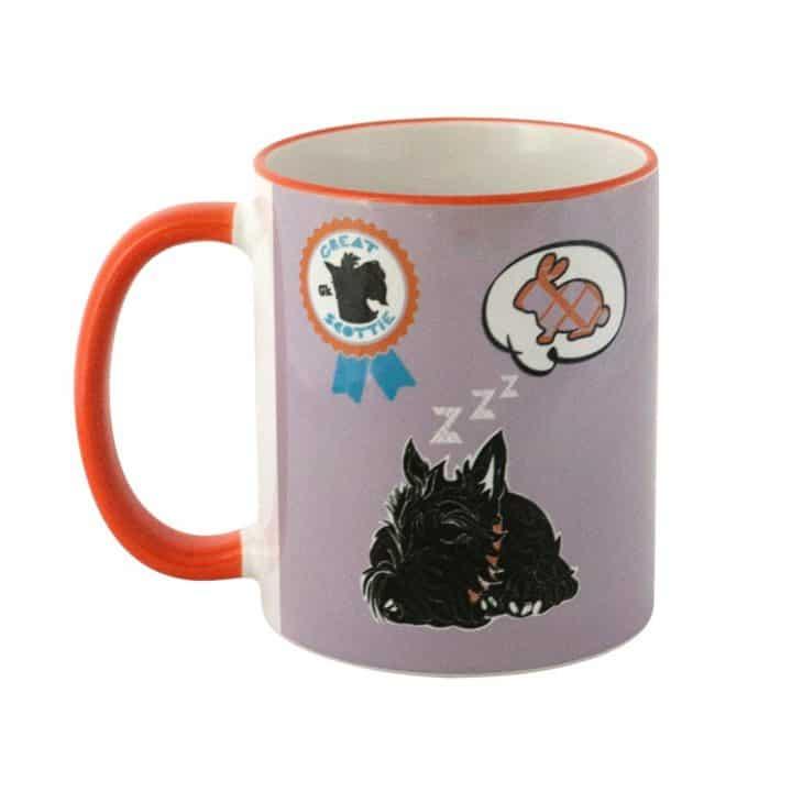 Great Scottie Set of Scottish Highland Terrier mugs celebrating Scotty Dogs by Gillian Kyle