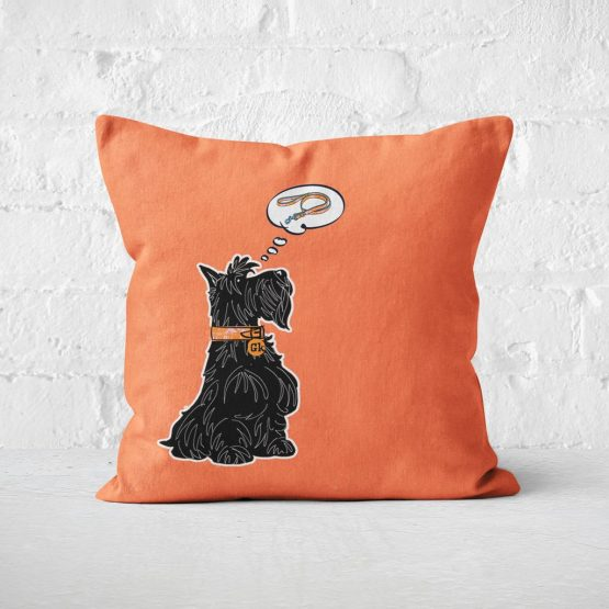 Great Scottie Scottish Highland Terrier cushion celebrating Scotty Dogs by Gillian Kyle