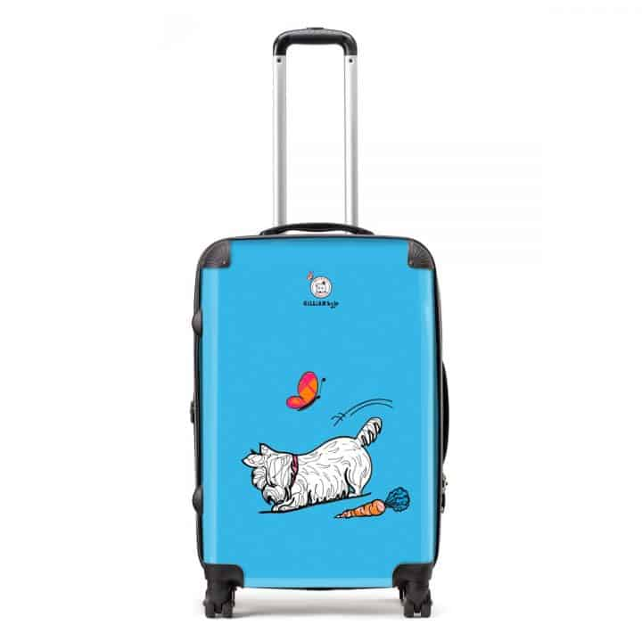 Westie World Scottish West Highland Terrier Westy suitcases and luggage by Gillian Kyle