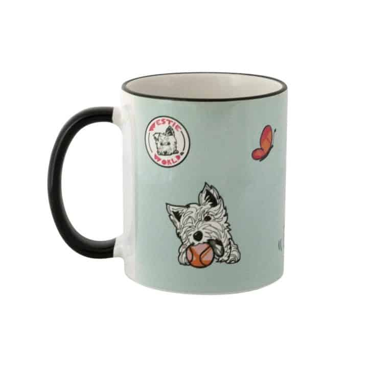 Westie World Set of Scottish West Highland Terrier Westy mugs by Gillian Kyle