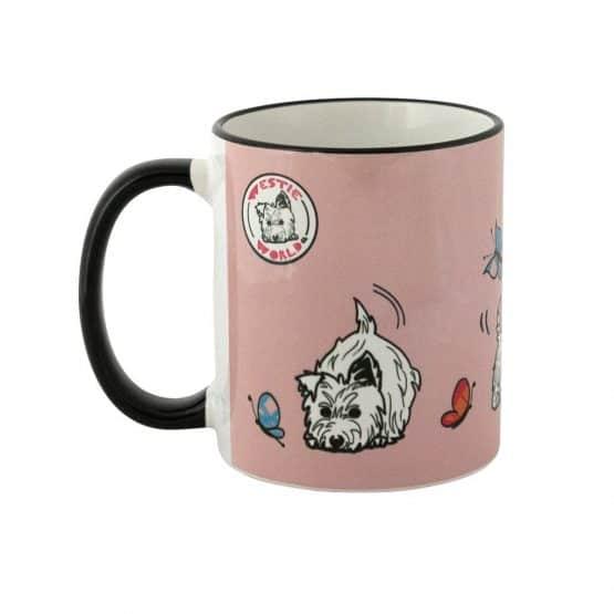 Westie World Set of Scottish West Highland Terrier Westy mugs by Gillian Kyle