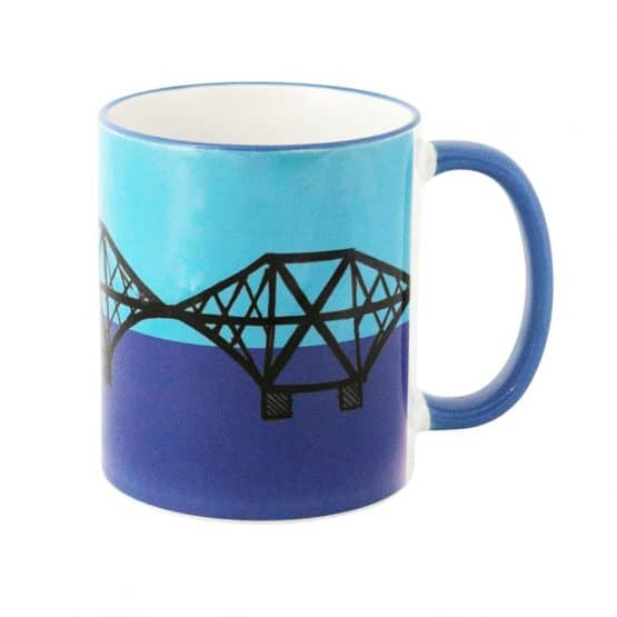 Celebrating Scottish Engineering River Forth Queensferry Crossing mug by Gillian Kyle