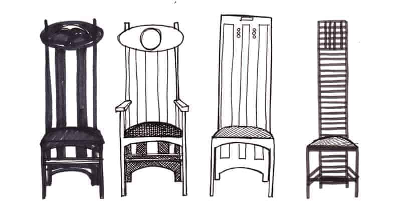 Charles Rennie Mackintosh chairs by Gillian Kyle