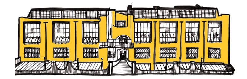 Charles Rennie Mackintosh Glasgow School of Art illustration by Gillian Kyle