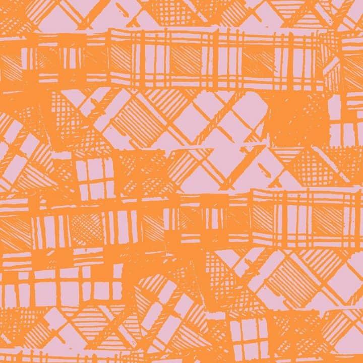 Scottish artist Gillian Kyle's modern take on Scottish tartan and plaid
