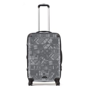 Scottish artist Gillian Kyle's modern take on Scottish tartan and plaid - designer, lightweight suitcases and luggage sets