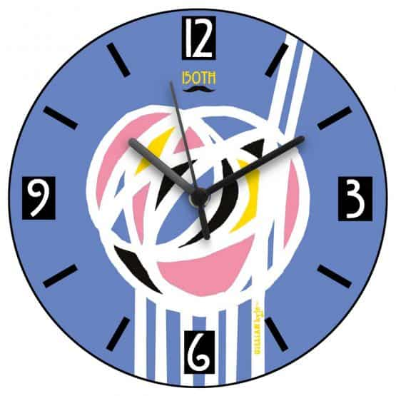 Charles Rennie Mackintosh rose design wall clock celebrating the Scottish artist, designer and architect on