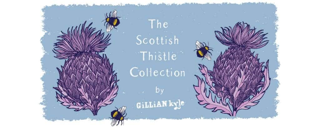Contemporary Scottish thistle art