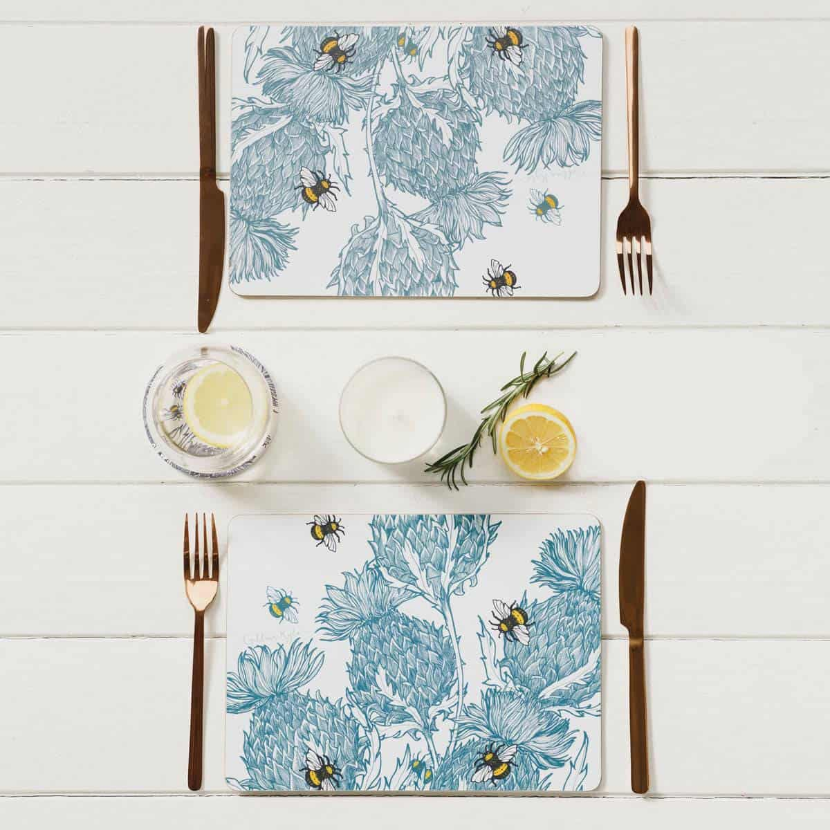 gillian kyle flower of scotland thistle placemats and tablemats