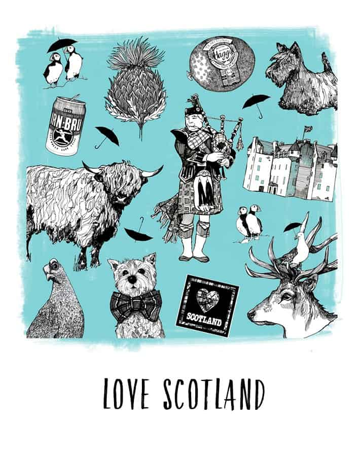 Beautiful contemporary Scottish Christmas Gifts from Gillian Kyle