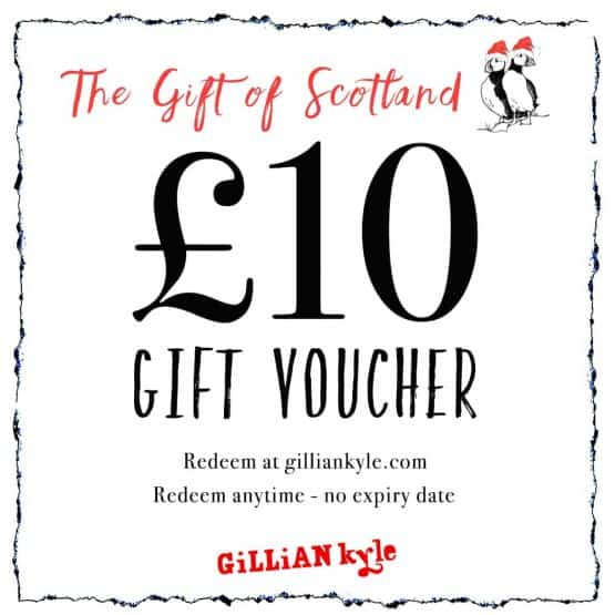 £10 gift voucher by Scottish artist Gillian Kyle