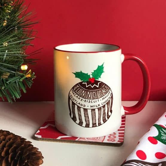 Tunnock's Christmas Pudding Earthenware Mug