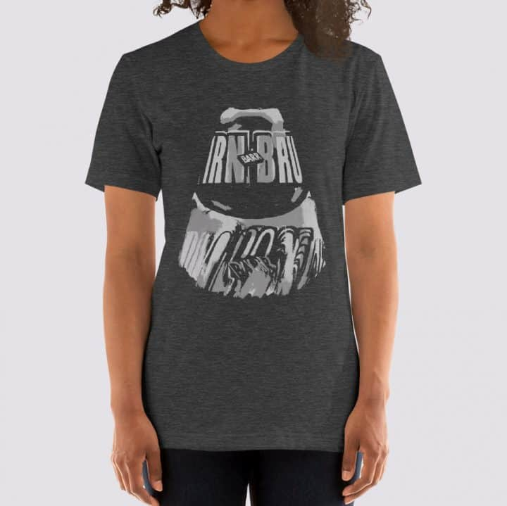 IRN-BRU t-shirt by Gillian Kyle