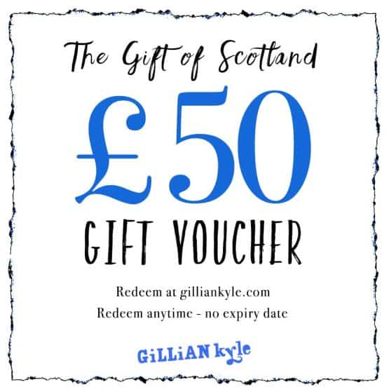 gift voucher by Scottish artist Gillian Kyle