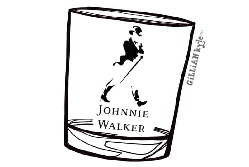 Johnnie Walker illustration by Gillian Kyle