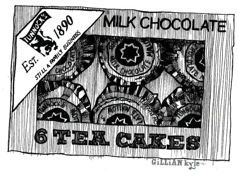 Tunnocks illustration by Gillian Kyle