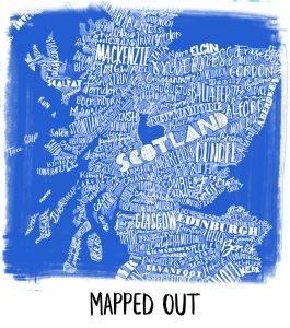 Scotland place names map from Gillian Kyle
