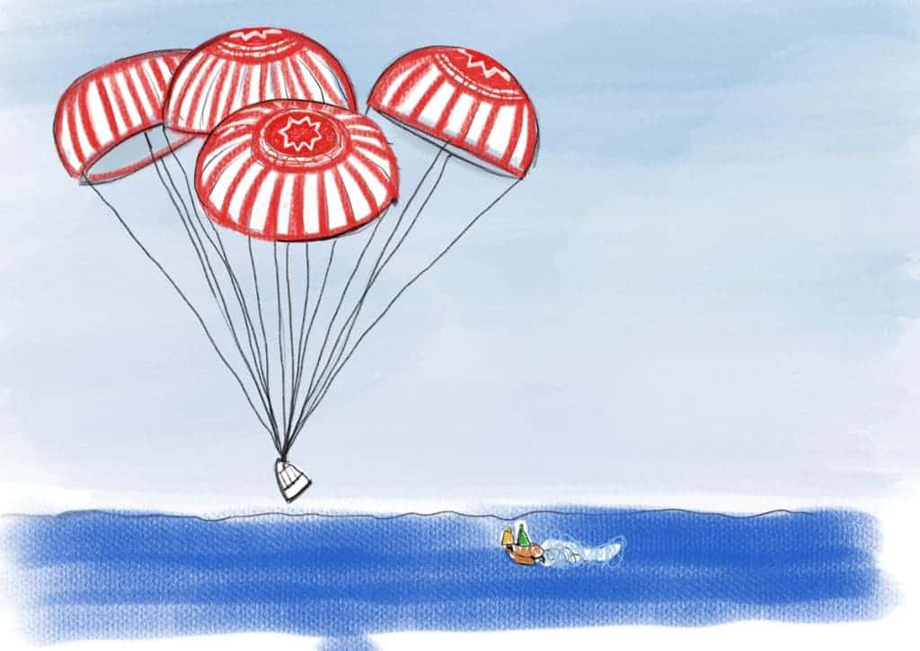 SpaceX capsule splashdown