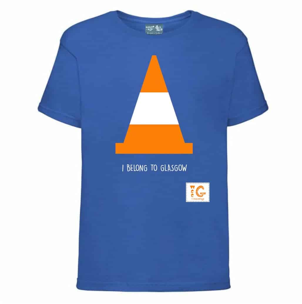 Glasgow traffic cone kids t shirt